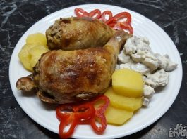 Csirkemájjal töltött csirkecomb