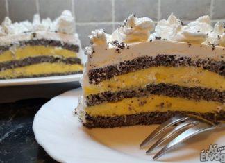 Mákos pudingos krémes süti