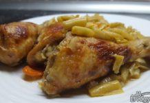 Zöldbabos csirkecomb