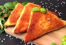 Rántott háromszögű szendvics