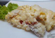 Sonkás-mozzarellás rakott krumpli