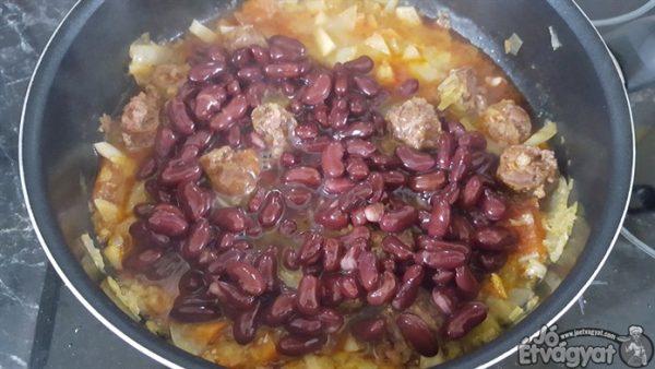 Vörösbab főzése