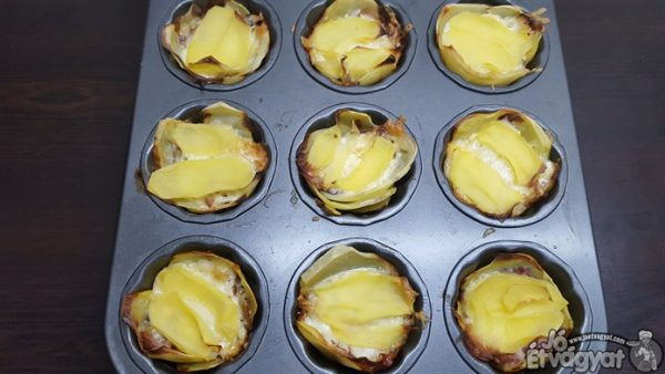 Kisült burgonyás szalonnás muffin