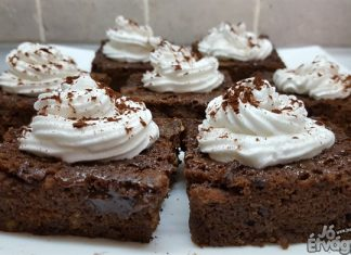 Barna sörös, csokoládés brownie