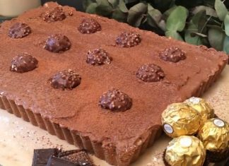 Ferrero rocher túrótorta