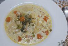 Zöldséges daragaluska leves