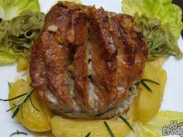 szaftós és omlós rozmaringos sertéskaraj