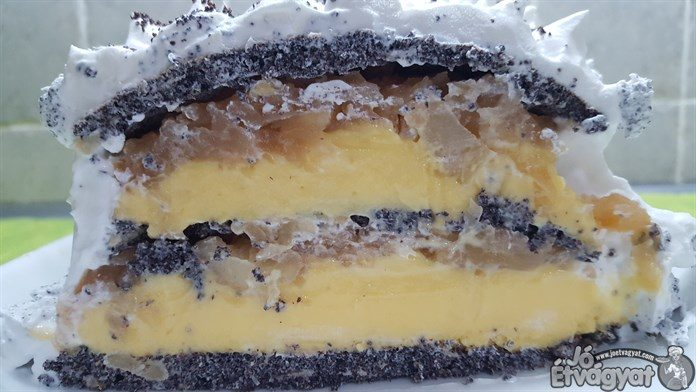 Almás mákos torta