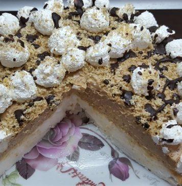 Diós-nutellás torta