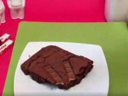 Kinder csokis brownie