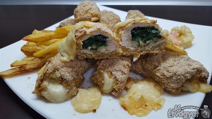spenotos-sajtos csirkemell-tekercs