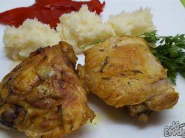 Karamellizált csirkecombok