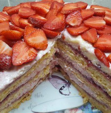 Epres tiramisu torta