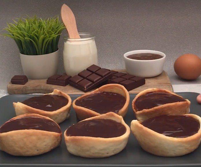 Csokoládés karamellás tortácskák