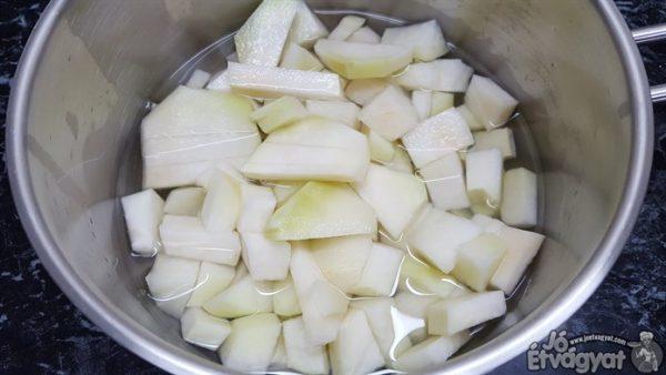 Karalábé főzése